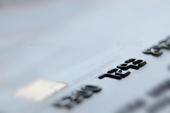 Macro photo of credit or debit card with space for text - Stock Photo - Images
