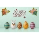 Easter Background with White Bunny, Chicken - GraphicRiver Item for Sale