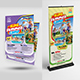 Kids Summer Camp Flyer with Rollup Bundle - GraphicRiver Item for Sale