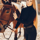 Elegants girl with a horse in a ranch - PhotoDune Item for Sale