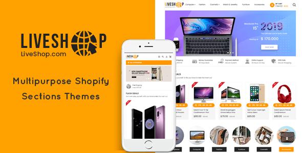LiveShop - Multipurpose Drag & Drop Shopify Theme