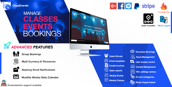 Institute Booking System – Events & Batches Booking