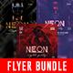 Neon Party Flyer Bundle - GraphicRiver Item for Sale