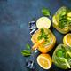 Lemonade, mojito and orange lemonade on white - PhotoDune Item for Sale
