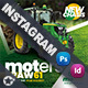 Vehichle Mower Instagram Templates - GraphicRiver Item for Sale