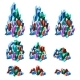 Stages of Formation of Multicolored Crystalline - GraphicRiver Item for Sale