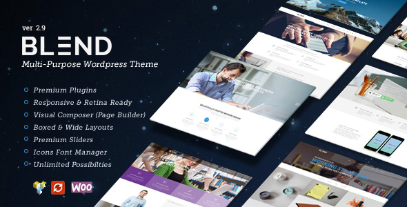 Download Blend – Multi-Purpose Responsive WordPress Theme nulled blend preview