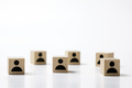 Group of wooden cube block with icon people - PhotoDune Item for Sale