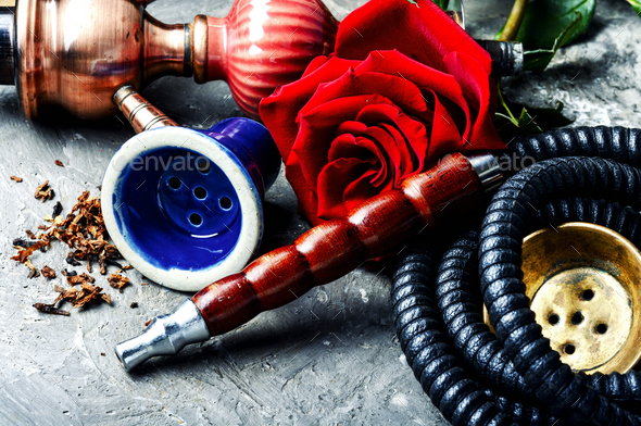 Flower with hookah - Stock Photo - Images