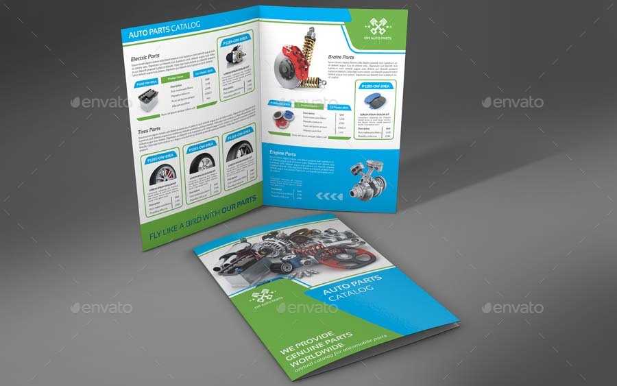 Auto Parts Catalog Brochure Bundle Template Vol 3
