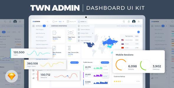 TWN Admin Dashboard UI Kit