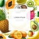 Realistic Exotic Fruits Template - GraphicRiver Item for Sale