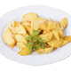 Baked potato wedges with onions and parsley. - PhotoDune Item for Sale
