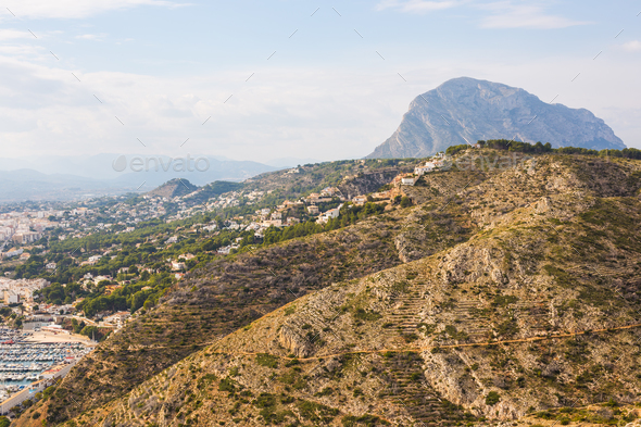 Javea Xabia village in Mediterranean sea of Alicante, Spain - Stock Photo - Images
