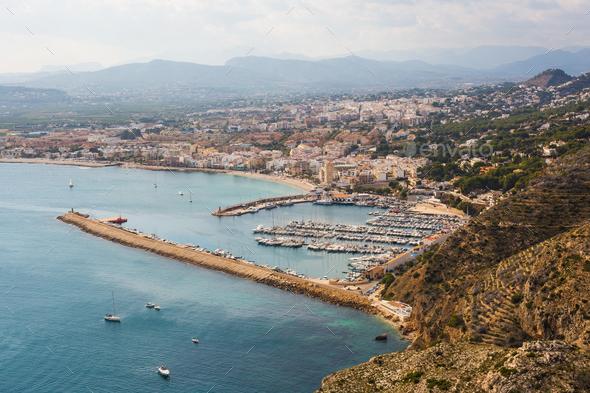 Javea Xabia village in Mediterranean sea of Alicante, Spain - Stock Photo - Images
