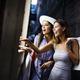 Happy young women enjoying shopping on vacation - PhotoDune Item for Sale