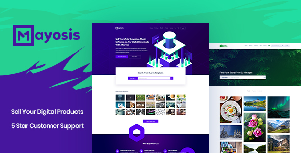 Mayosis - Digital Marketplace WordPress Theme Free Download   Nulled