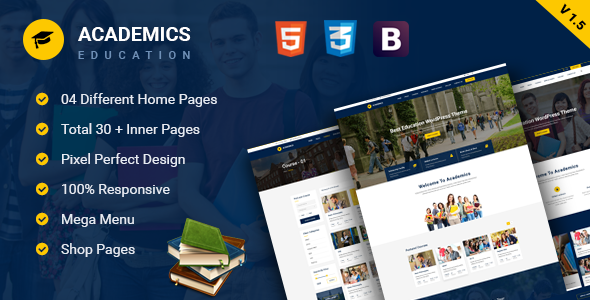 Academics - Education HTML Template
