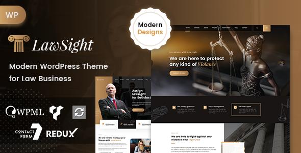 Lawsight - Lawyer & Law WordPress Theme