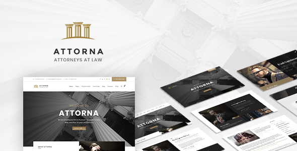 Attorna - Lawyer & Attorney WordPress Theme For Law Firm