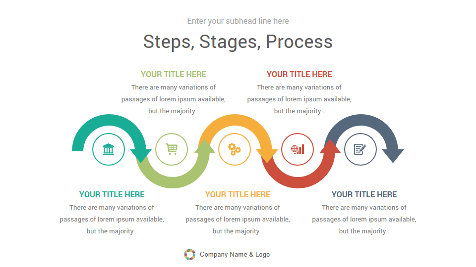 Arrow Infographics Google Slides Template Diagrams