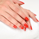 Manicure - Beautiful manicured woman's nails with red nail polis - PhotoDune Item for Sale