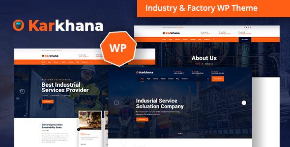 Karkhana – Industry & Factory WordPress Theme Free Download