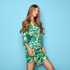 Blonde young woman in floral spring summer dress - PhotoDune Item for Sale