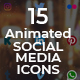 15 Animated Social Media Icons - VideoHive Item for Sale