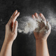 baker hands with flour in motion - PhotoDune Item for Sale