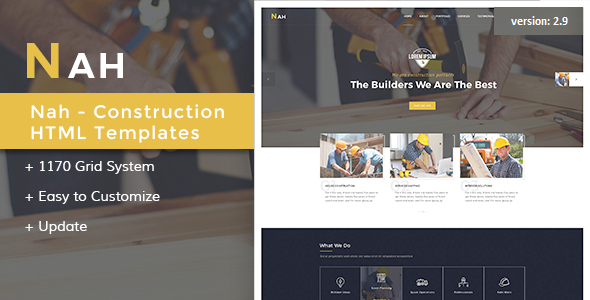 Nah Multipurpose Construction Drupal 8.6