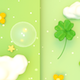 Cute Four-Leaf Clovers Background - VideoHive Item for Sale