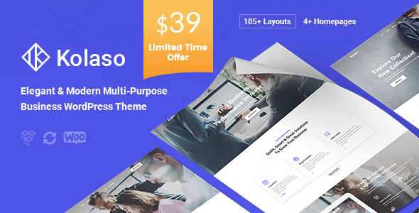 Kolaso – Modern Multi-Purpose WordPress Theme Free Download
