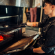 Chef preparing a steak on the grill oven - PhotoDune Item for Sale