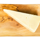 view of Pecorino Romano cheese on board isolated - PhotoDune Item for Sale