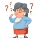 Confused Grandmother Memory Loss - GraphicRiver Item for Sale