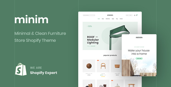 Minim – Minimal & Clean Furniture Store Shopify Theme (Mobile Friendly)