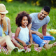 Picture of lovely couple with their daughter having picnic - PhotoDune Item for Sale