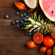 Ripe fruit on a wooden background - PhotoDune Item for Sale