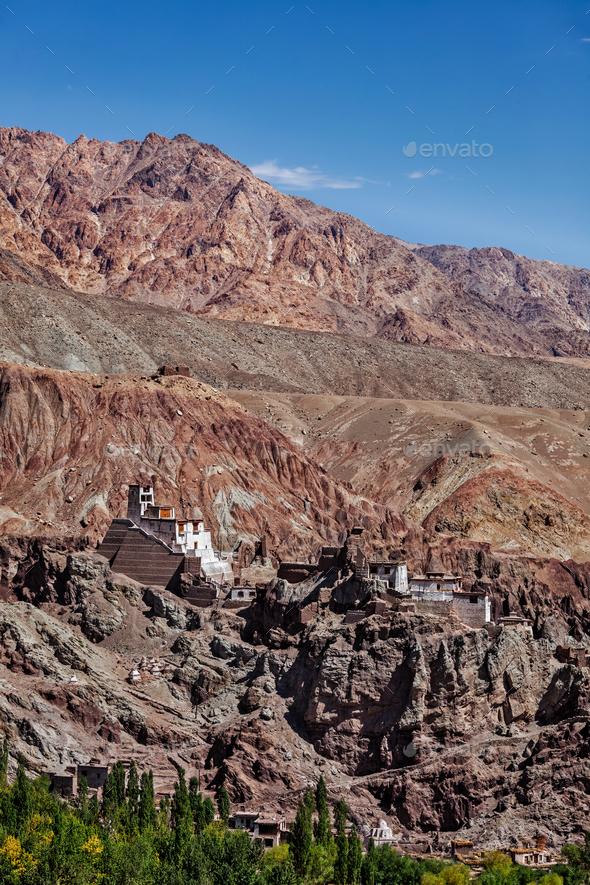 Basgo monastery. Ladakh, India - Stock Photo - Images