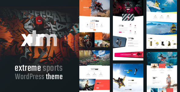 XTRM – Extreme Sports WordPress Theme Free Download