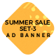 HTML Ad Banners - Summer Sale Set-3
