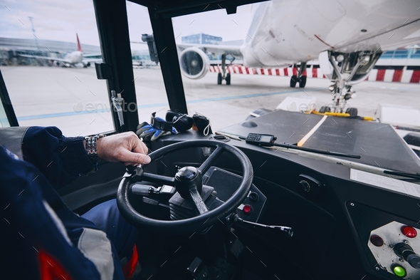 Preparation of airplane before flight - Stock Photo - Images