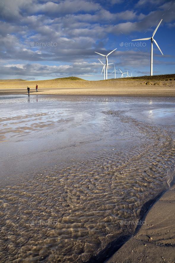 Windmills on the Maasvlakte - Stock Photo - Images