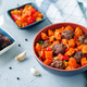 Pumpkin sweet potato Bell pepper stew with meatballs - PhotoDune Item for Sale