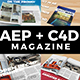 AE + C4D Real Animated Magazine