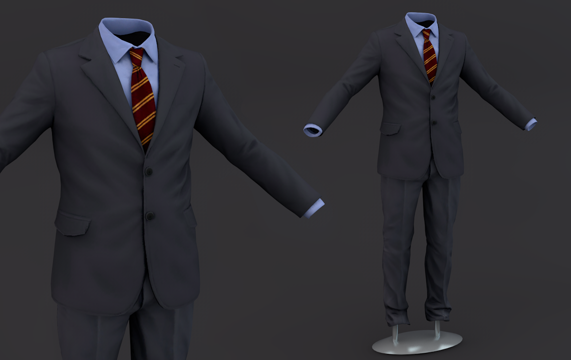 Suit men 3D Model Clothing