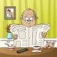Man Reading a Newspaper - GraphicRiver Item for Sale