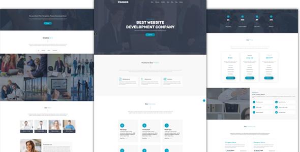 Probox Multipurpose HTML One Page Template by sbTechnosoft
