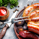 Delicious sausages grilled - PhotoDune Item for Sale